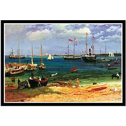 Albert Bierstadt 'Nassau Port' Framed Art Print