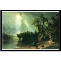 Albert Bierstadt 'Storm over the Sierra Nevada' Framed Art Print