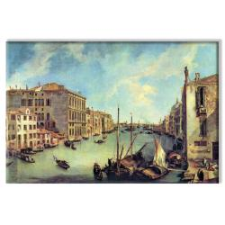 Canaletto 'Grand Canal at San Vio' 14x21-inch Canvas Art