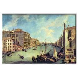 Canaletto 'Grand Canal at San Vio' 24x36-inch Canvas Art - Thumbnail 1
