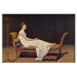 Jacques Louis David 'Portrait of Madame Recamier' Unframed Canvas Art