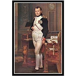 Jacques Louis David 'Portrait of Napoleon In His Work Room' Framed Art