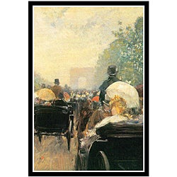 Frederick Childe Hassam 'Carriage Parade' Framed Art Print