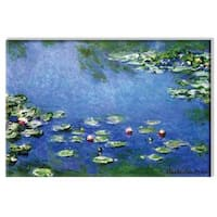Claude Monet 'Water Lilies - White' Small Canvas Art