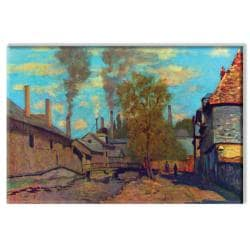 Claude Monet 'The Stream of Robec' Canvas Art - Thumbnail 1