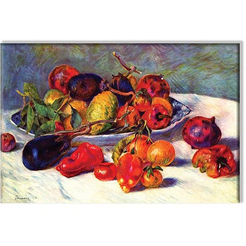 Pierre-August Renoir 'Still Life with Tropical Fruits' Small Canvas Art