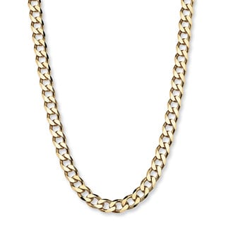 "Curb-Link Chain in 18k Gold over .925 Sterling Silver 22"" Tailored"
