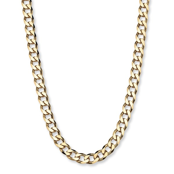 "Curb-Link Chain in 18k Gold over .925 Sterling Silver 22"" Tailored. Opens flyout."