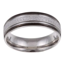 Stainless Steel Men's Diamond-cut Textured Band (7 mm)