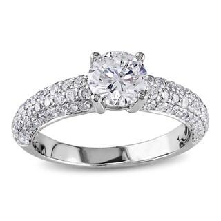 Miadora Signature Collection 18k White Gold 1 3/5ct TDW IGL-certified Diamond Ring