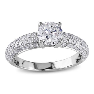 Miadora Signature Collection 18k White Gold 1 3/5ct TDW IGL-certified Diamond Ring