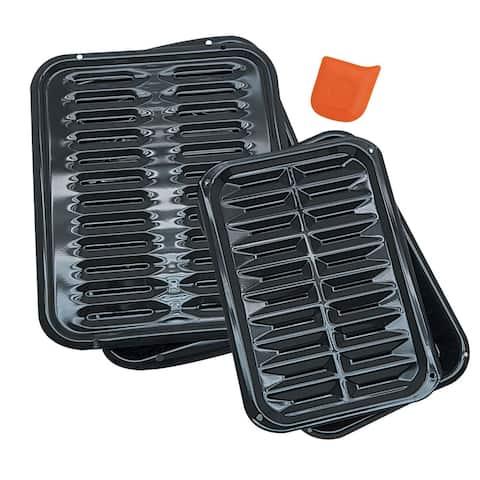 Porcelain Broiler Pan (2-pack)