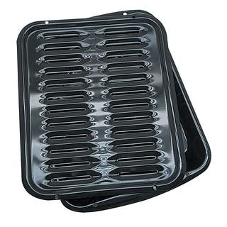 Porcelain Broiler Pan with Grill|https://ak1.ostkcdn.com/images/products/5171061/Porcelain-Broiler-Pan-with-Grill-P13009388.jpg?impolicy=medium