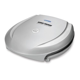 George Foreman Fixed Plate Grill, Platinum