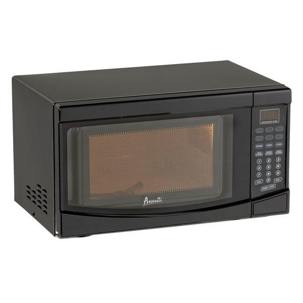 Avanti 0 7 Cubic Foot Capacity Microwave Oven 700 Watts Black: Shop Avanti Black 0.7 Cubic-foot 700-watt Microwave Oven
