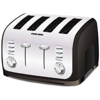 Black & Decker Black and Chrome 4-Slice Toaster