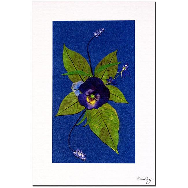 Kathie McCurdy 'Deep Purple' Canvas Art