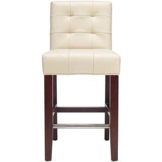 Safavieh Noho Ivory Leather 26-inch Counter Stool