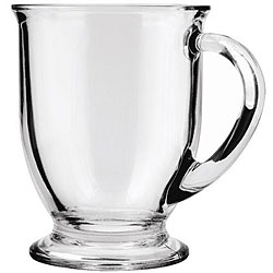 Anchor Hocking 16-oz Glass Cafe Mugs (Pack of 6)