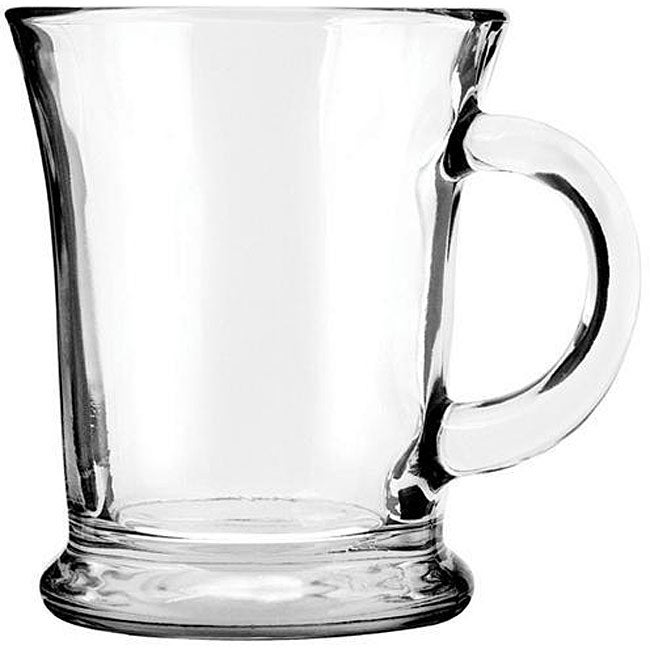 Anchor Hocking 13.5-oz Glass Mocha Mugs (Pack of 6), Clear