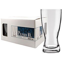 Challenger 10-oz Pilsner Glasses (Pack of 12)