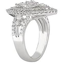 18k White Gold 1 3/8ct TDW Diamond Fashion Ring (G-H, SI1-SI2)