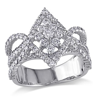 Miadora Signature Collection 18k White Gold 1 7/8ct TDW Diamond Ring (G-H, SI1-SI2)
