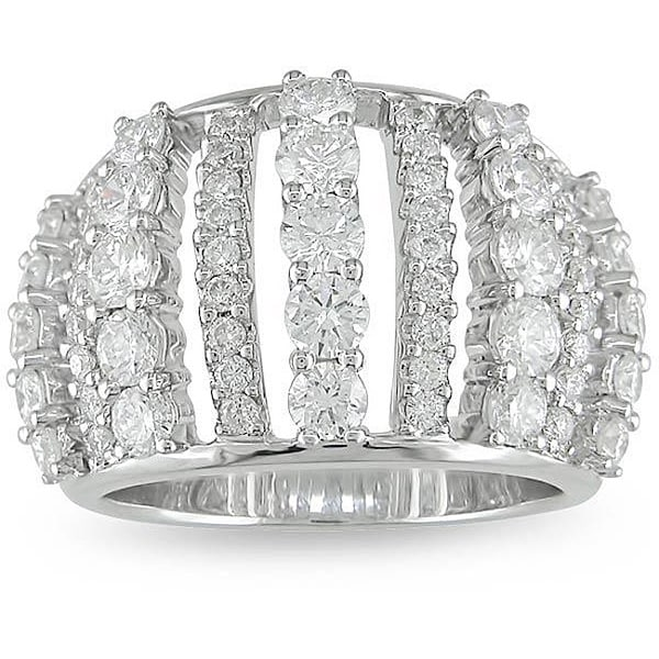 Miadora 18k White Gold 2 1/3ct TDW Diamond Fashion Ring