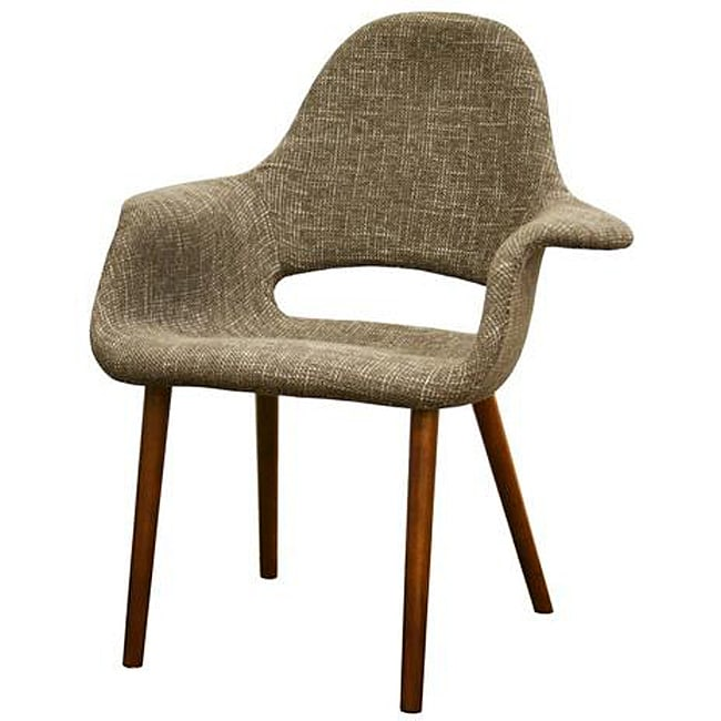 Forza Taupe Twill Mid-Century Style Accent Chairs (Set Of