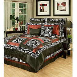 Sherry Kline Jungle Passage Black/ White/ Red 8-piece Comforter Set