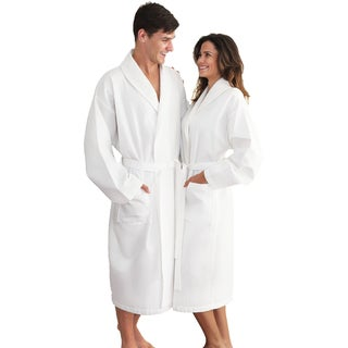 Authentic Hotel and Spa Turkish Cotton Unisex Waffle-Weave Bath Robe