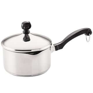 Farberware Classic Stainless Steel 1-quart Covered Straining Saucepan