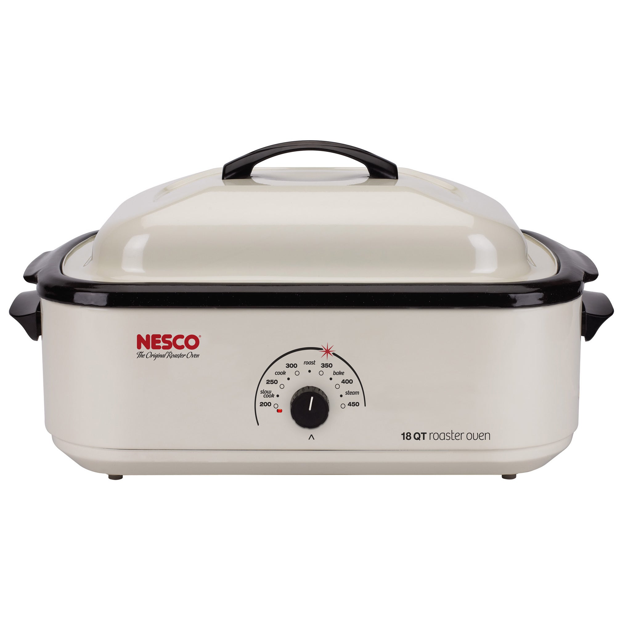 Nesco 4818-14 18-quart Electric Roaster Oven, White (Metal)