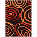 Hand-tufted Contempo Swirl Wool Rug (8' x 11')