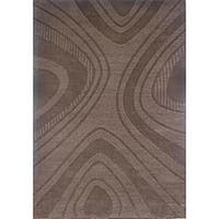 Hand-tufted Geoma Chocolate Wool Rug (8' x 11') - 8' x 11'