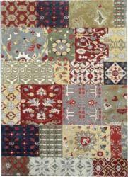 Hand-tufted Motif Oriental Wool Rug (8' x 11') - Thumbnail 2