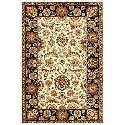 Hand-tufted Ivory/ Black Oriental Wool Rug (9' x 13') - Thumbnail 0