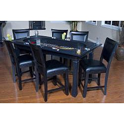 Fremont 3-in-1 Black Game Table/ Chair Set