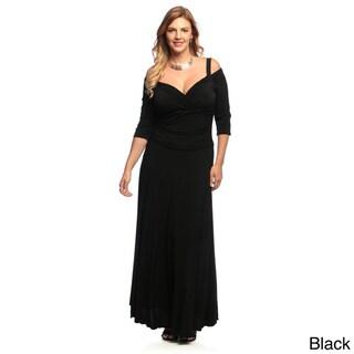 Evanese Women's Plus Size 3/4-sleeve Long Dress