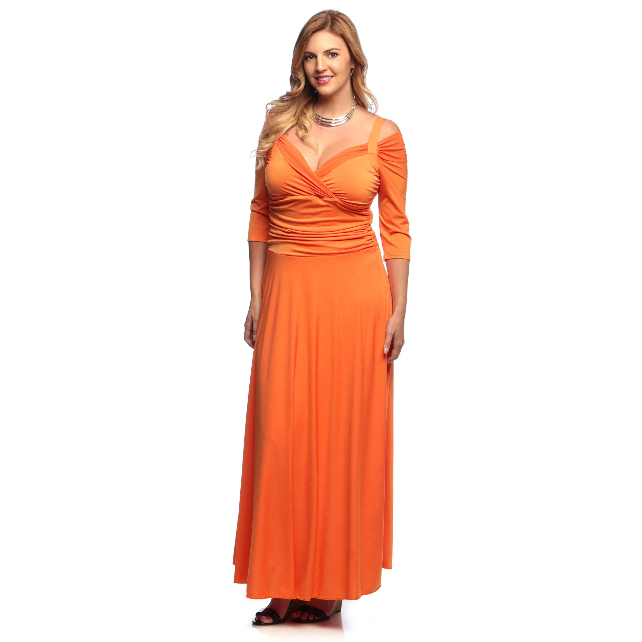 Evanese Women\'s Plus Size 3/4-sleeve Long Dress
