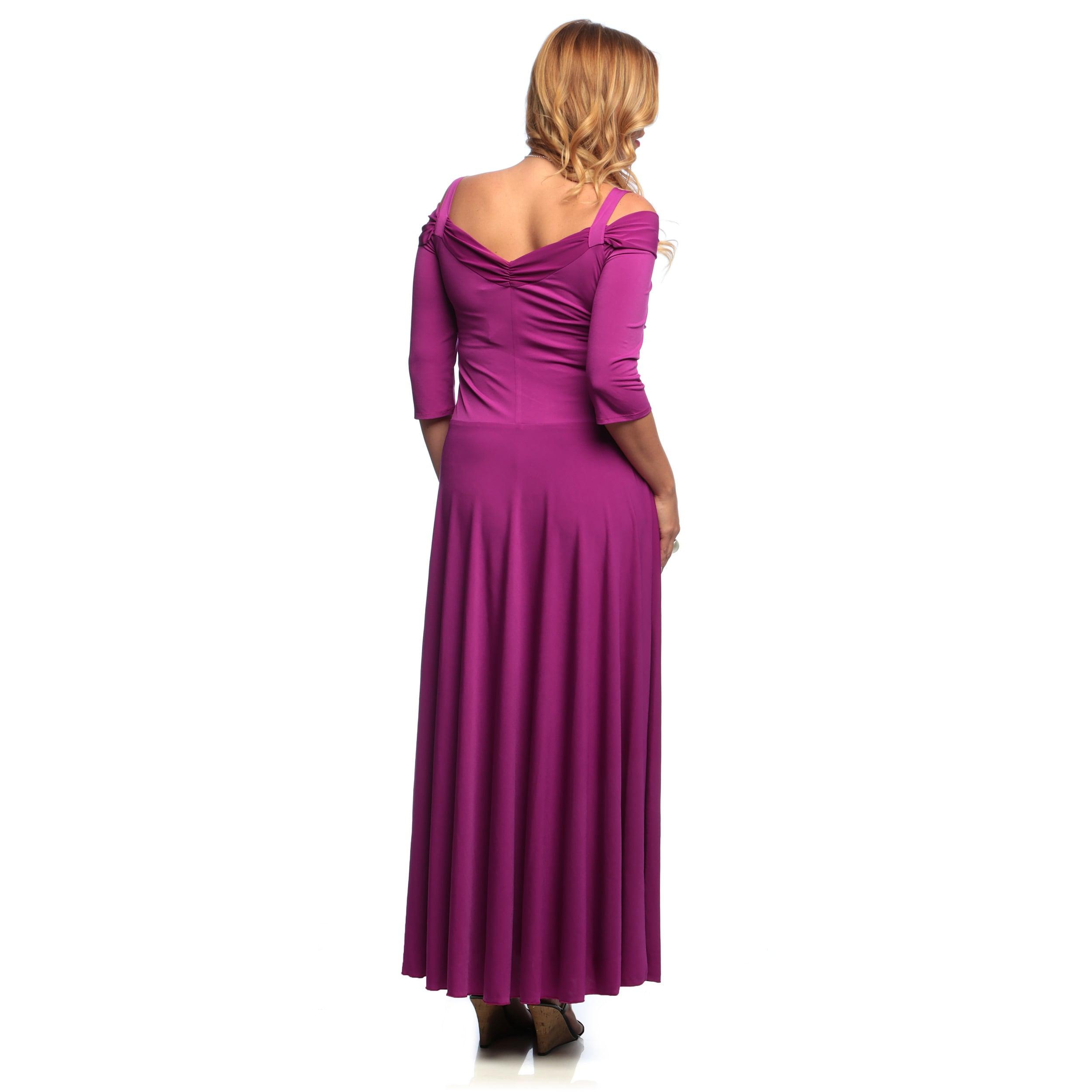 Shop Evanese Women S Plus Size 3 4 Sleeve Long Dress Overstock