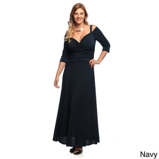 Evanese Women's Plus Size 3/4-sleeve Long Dress (More options available)