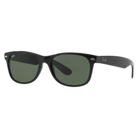 3afe1498a83 Ray-Ban New Wayfarer Classic RB 2132 Unisex Black Frame Green Classic Lens  Sunglasses