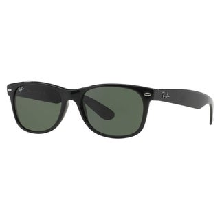 Ray-Ban New Wayfarer Classic RB 2132 Unisex Black Frame Green Classic Lens Sunglasses