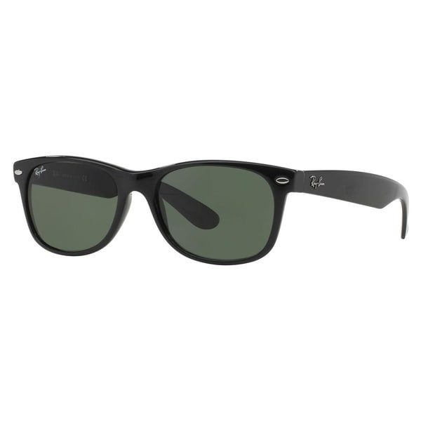 b648c1ec80 Ray-Ban New Wayfarer Classic RB 2132 Unisex Black Frame Green Classic Lens  Sunglasses. Click to Zoom