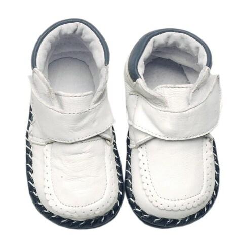 Papush White Infant Walking Shoes
