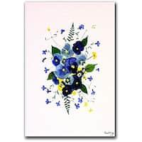 Kathie McCurdy 'Vivacious Violas' Canvas Art