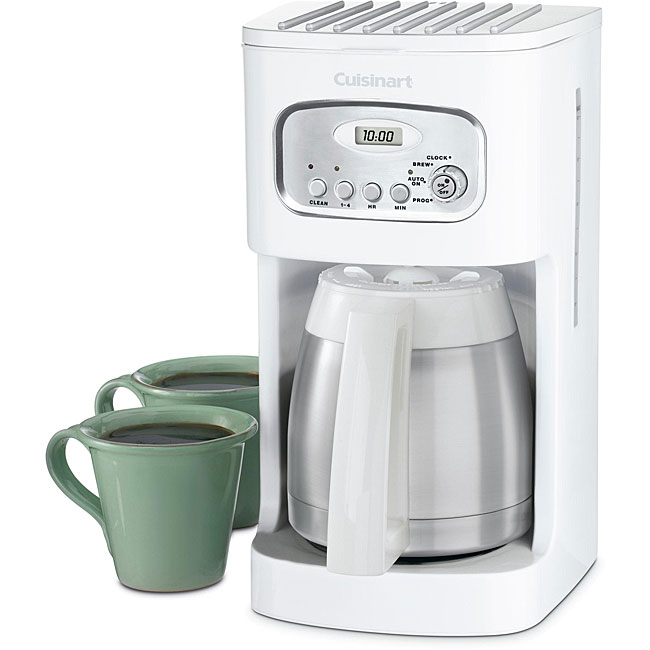 Cuisinart DCC-1150 10-cup White Programmable Thermal Coffeemaker - Thumbnail 0