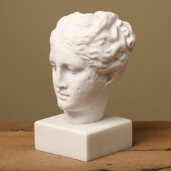 White Bonded Marble Hygeia 8.5-inch Museum Replica Head Statue