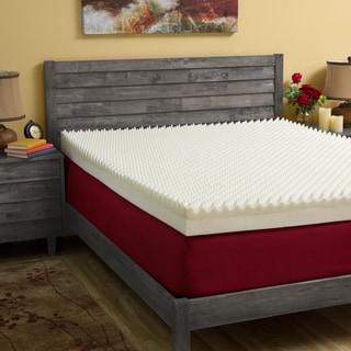Slumber Solutions Highloft Mattress MakeOver 4-inch Memory Foam Mattress Topper